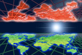Reflexion of global warming world in space. — Stock Photo