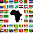 African flags — Vettoriali Stock