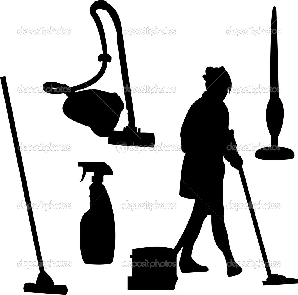 of cleaner silhouette  Vacuum Silhouette
