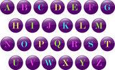 кнопки алфавита — Cтоковый вектор