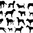 Royalty-Free Stock Vectorielle: Dogs silhouette