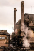 Old factory chimneys — Stock Photo