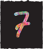 Colorful number 7 — Stock Photo