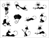 черные кошки — Cтоковый вектор