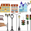 Royalty-Free Stock Vector Image: City street details