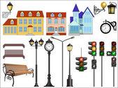 Rua detalhes cidade — Vetor de Stock