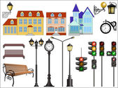 City street details — Stockvektor