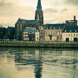 Stock Photo: Maastricht. River Maas, St Martins Church view