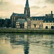 Maastricht. River Maas, St Martins Church view - Stock Photo