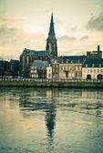 Maastricht. River Maas, St Martins Church view — Stock Photo