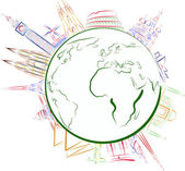 Pontos turísticos do mundo — Vetor de Stock