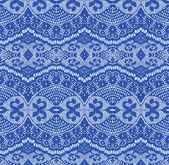 Blue seamless lace fabric — Stock Vector
