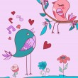 Love bird song — Stock Vector