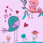 Love bird song — Stock Vector