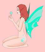 нежный голая фея — Cтоковый вектор