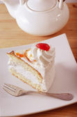 Cake on plate — Stock Photo