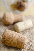 Corks for wine — Stock Photo