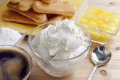 Tiramisu' ingredients — Stock Photo
