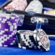 Stock Photo: Casino concept with chips and cards