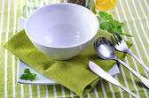 White and green dishwashing — Stock Photo