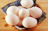 Raw eggs — Stock Photo