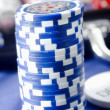 Chips for poker - Stock Photo