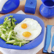 Eggs and salad - Stock Photo