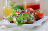 Tomato and salad — Stock Photo