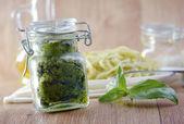 Pesto in bank — Stock Photo