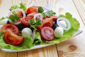 Salad with tomato — Stock Photo