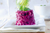 Salad with beet — Stock Photo