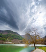 Storm under lake in Crimea — Stock Photo