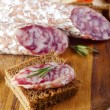 Royalty-Free Stock Photo: Bread with salami
