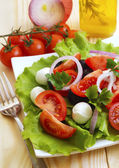 Salad of fresh vegetables — Stock Photo