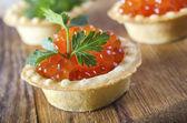 Caviar de salmão — Fotografia Stock