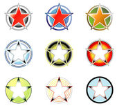 Set of logos: star and circle form 2 — Stock Vector