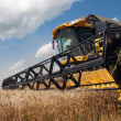Combine harvester working on a wheat field — Stock Photo #9823861