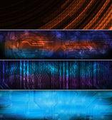 Banner tema tecnologia — Vettoriale Stock