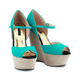 Turquoise shoes — Stock Photo