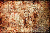 Abstract grunge texture: scratches, dirt, rust and spots on wall — Stockfoto
