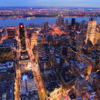 Stock Photo: New York City Manhattskyline aerial view at dusk
