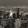 New York City Manhattan skyline aerial view at dusk — Stock Photo #8576647