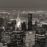 New York City Manhattan skyline aerial view at dusk — Stock Photo