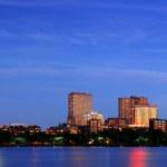 Boston night scene panorama — Stock Photo #8577597