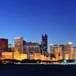 Chicago night panorama — Stock Photo #8578205