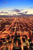 Chicago i skymningen — Stockfoto