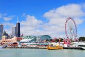 Chicago navy pier — Stok fotoğraf
