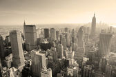 New York City skyline black and white — Stock Photo
