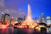 Chicago night scene — Stock Photo