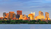 Charles River sunset — Stock Photo